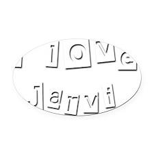I Love Jarvi Oval Car Magnet
