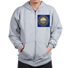 New Hampshire State Flag Zip Hoodie