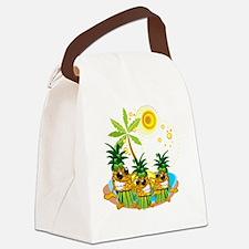 Sunglass Pineapple Trio Canvas Lunch Bag