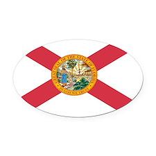 Florida State Flag Oval Car Magnet
