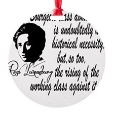 Rosa Luxemburg With Quote Round Ornament