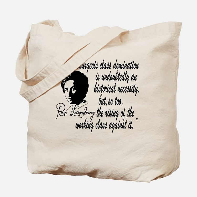 Rosa Luxemburg With Quote Tote Bag