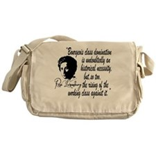 Rosa Luxemburg With Quote Messenger Bag
