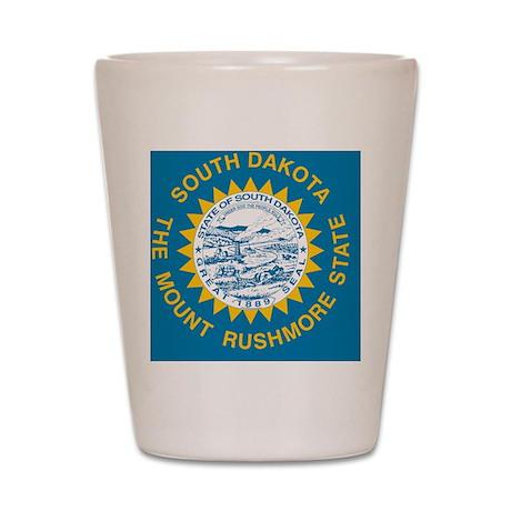 South Dakota State Flag Shot Glass