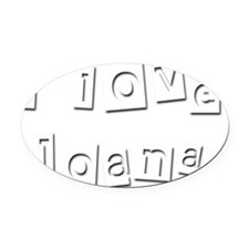 I Love Joana Oval Car Magnet