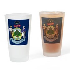 Maine State Flag Drinking Glass