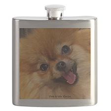 Happy Pomeranian Flask