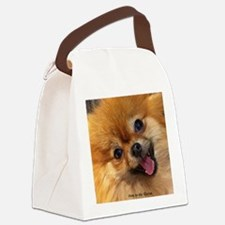 Happy Pomeranian Canvas Lunch Bag