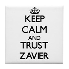 Keep Calm and TRUST Zavier Tile Coaster