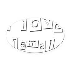 I Love Jamal Oval Car Magnet