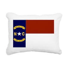 North Carolina State Fla Rectangular Canvas Pillow