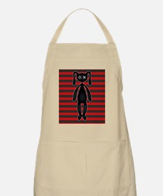 Goth Red and Black Bunny Apron
