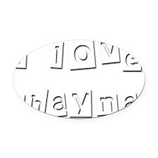 I Love Shayna Oval Car Magnet