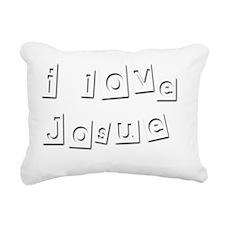 I Love Josue Rectangular Canvas Pillow