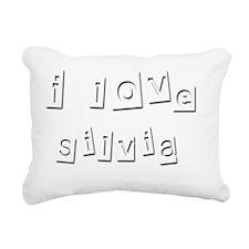 I Love Silvia Rectangular Canvas Pillow
