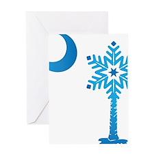 Christmas Palmetto Snowflake Greeting Card