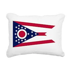 Ohio State Flag Rectangular Canvas Pillow
