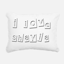 I Love Shayla Rectangular Canvas Pillow