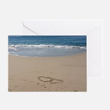 Hearts on the Beach Greeting Card