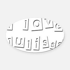 I Love Julissa Oval Car Magnet