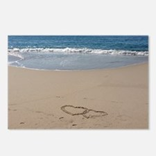 Hearts on the Beach Postcards (Package of 8)