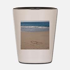 Hearts on the Beach Shot Glass