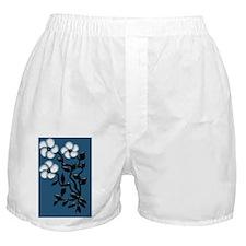 White Petal Art Flowers Boxer Shorts