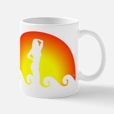Woman In Waves Mug