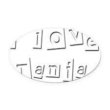 I Love Tania Oval Car Magnet