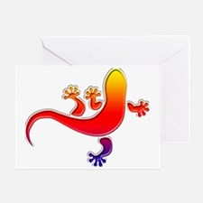Cool Gecko 3 Greeting Card