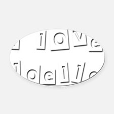I Love Joelle Oval Car Magnet