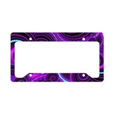 Funky Purple Swirl Fractal Ar License Plate Holder