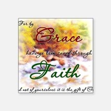 """Saved by Grace Square Sticker 3"""" x 3"""""""