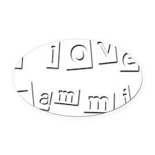 I Love Tammi Oval Car Magnet