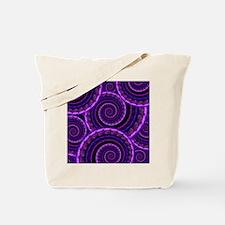 Purple Spiral Fractal Art Pattern Tote Bag