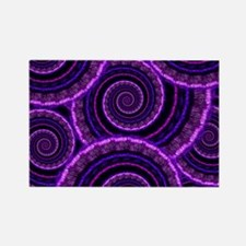 Purple Spiral Fractal Art Pattern Rectangle Magnet