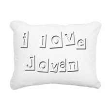 I Love Jovan Rectangular Canvas Pillow