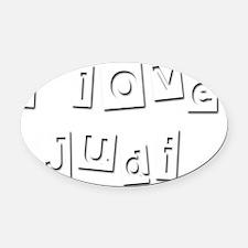 I Love Judi Oval Car Magnet