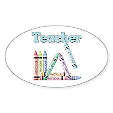 Teacher! Oval Decal