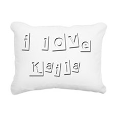 I Love Kaila Rectangular Canvas Pillow