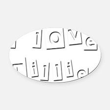 I Love Tillie Oval Car Magnet