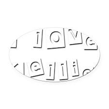 I Love Kellie Oval Car Magnet