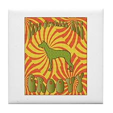 Groovy PIOs Tile Coaster