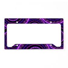 Purple Spiral Fractal Art Pat License Plate Holder