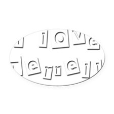 I Love Terrell Oval Car Magnet