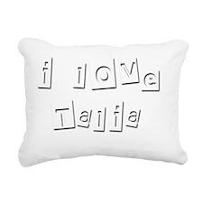 I Love Talia Rectangular Canvas Pillow