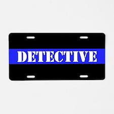 Police Detective Aluminum License Plate