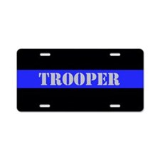 Police Trooper Aluminum License Plate