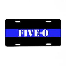 Police Five O Aluminum License Plate