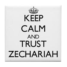Keep Calm and TRUST Zechariah Tile Coaster